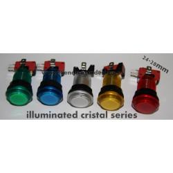Botón iluminado Cristal